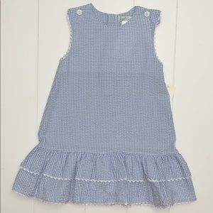 Blue And White Dress In Seersucker Fabric size 2T.